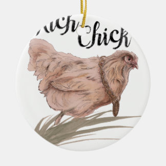 Rich Chick Round Ceramic Decoration