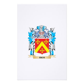 Rich Coat of Arms - Family Crest Stationery Paper