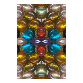 Rich Colored Glass Droplets Customized Stationery