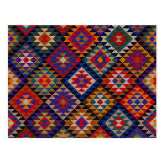 Rich Colored Indian Pattern Postcard