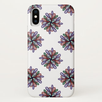 Rich colorful floral swirls iPhone x case