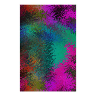 Rich Colorful Splatter Galore Design Stationery