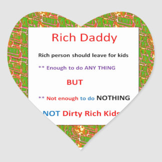 RICH DADDY - Financial Wisdom Quote Stickers