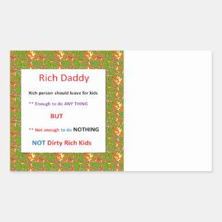 RICH DADDY - Financial Wisdom Quote Rectangular Sticker