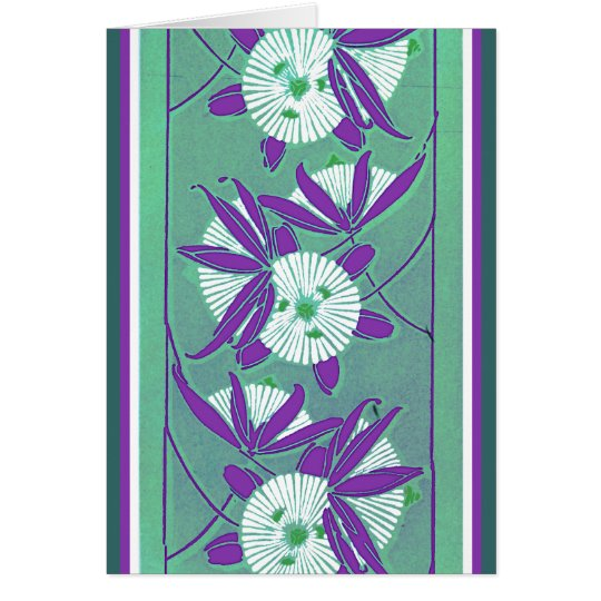 Rich Deco Floral Card