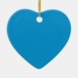 Rich Electric Blue Ceramic Heart Decoration