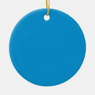 Rich Electric Blue Round Ceramic Decoration