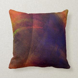 Rich, Elegant Abstract Digital Art Throw Pillow