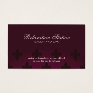 Rich elegant fleurdelis salon spa business card