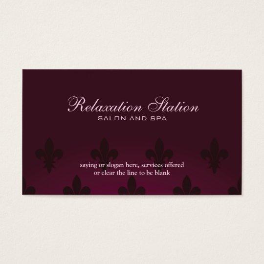 Rich elegant fleurdelis salon spa business card