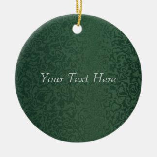 Rich Emerald Green Round Ceramic Decoration