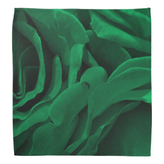 Rich emerald green velvety roses floral photo bandana