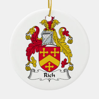 Rich Family Crest Christmas Ornaments
