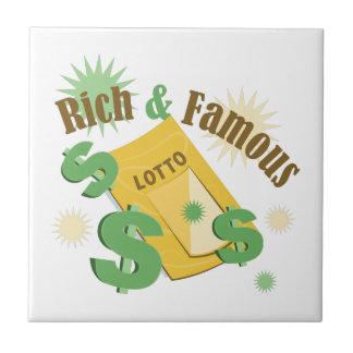 Rich & Famous Small Square Tile