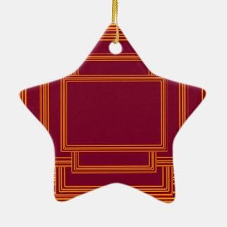 RICH Golden Streak Borders Christmas Tree Ornaments