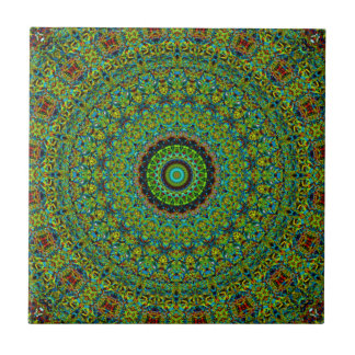 Rich Green Fairy Land Mandala Tile