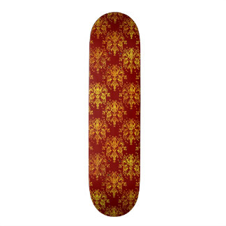 Rich Holiday Damask 21.3 Cm Mini Skateboard Deck