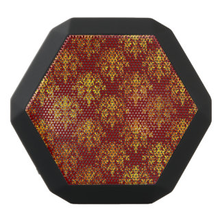 Rich Holiday Damask Black Bluetooth Speaker