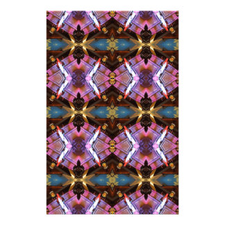Rich Jewel Tones Abstract Fractal Tribal Pattern Customised Stationery