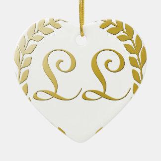 Rich Logo Ceramic Heart Decoration