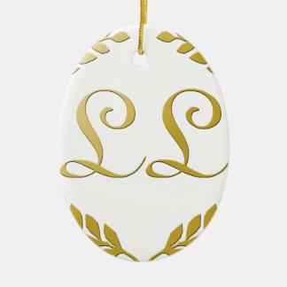 Rich Logo Ceramic Oval Decoration