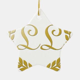 Rich Logo Ceramic Star Decoration