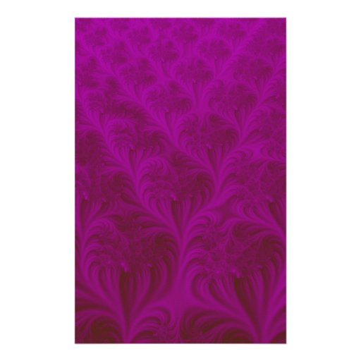 Rich magenta carpet effect 3D fractal. Personalised Stationery