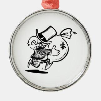 Rich Money Bags Cartoon Christmas Tree Ornaments