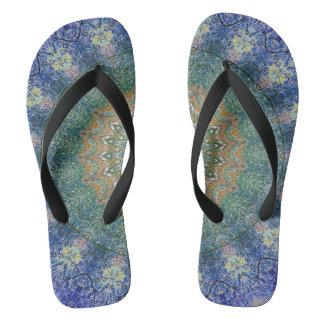 Rich Multi-Color Modern Mandala Pattern Flip Flops