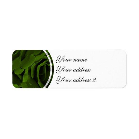 Rich olive green velvety roses flower photo return address label