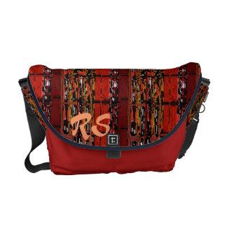 Rich Pattern monogrammed Messenger Bag