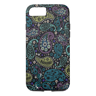 Rich Peacock Colors Paisley Pattern iPhone 8/7 Case