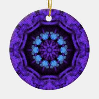 Rich purple and blue Mandala Round Ceramic Decoration