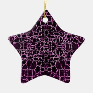 Rich Purple Crackled Pattern Ornament