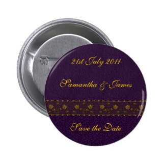 Rich Purple Wedding 6 Cm Round Badge