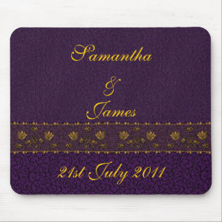 Rich Purple Wedding Mouse Mat