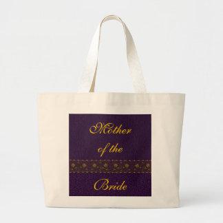 Rich Purple Wedding Tote Bags