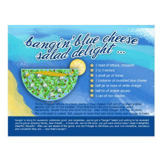 Rich Recipes - BANGIN' BLUE CHEESE SALAD Postcard