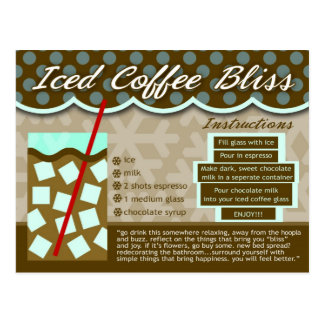 Rich Recipes ICED COFFEE BLISS Post Card
