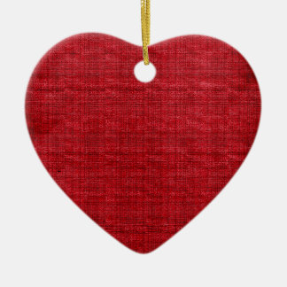 Rich Red Fabric Ceramic Heart Decoration