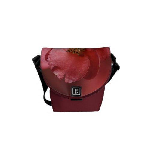 Rich Red Flower Rickshaw Messenger Bag