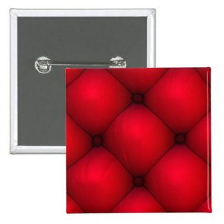 Rich Red Leather Tuck & Roll Interior 15 Cm Square Badge