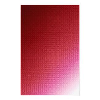 Rich Red Pattern Custom Stationery