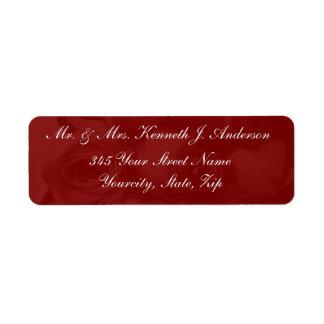 Rich Red Roses Return Address Label