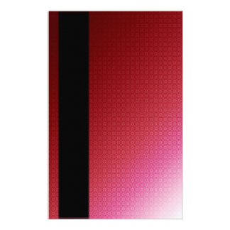 Rich Red With Black Band Stationery Paper