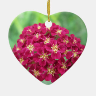 Rich Red Yarrow Flower Ornament