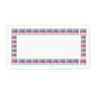 Rich Satin Silk Color Spectrum Border Shipping Label