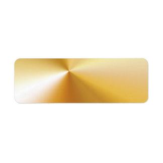 RICH SATIN SILK METALLIC GOLD  BACKGROUNDS DIGITAL RETURN ADDRESS LABEL