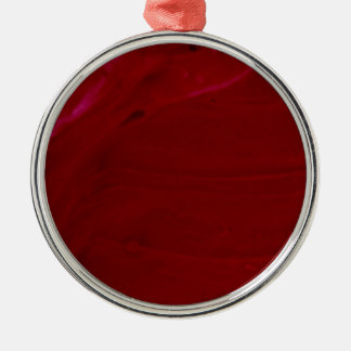 Rich Scarlet Red Frosting Photography Silver-Colored Round Decoration