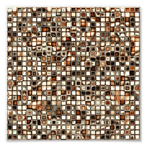 Rich Sepia Tones Textured Grid Pattern Photo